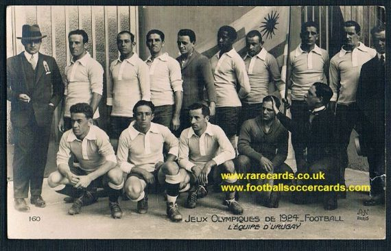 1924 Uruguay gold winners Andrade Nasazzi Olympic Games team postcard